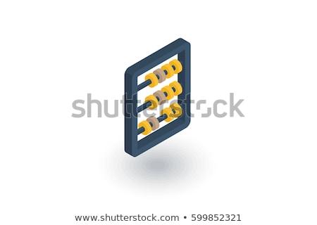 ábaco 3D ícone isolado branco escritório Foto stock © cidepix