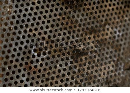 rusty perforated sheet Stock photo © illustrart