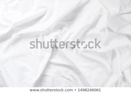 Felület ráncos fehér ruha háttér tapéta Stock fotó © nuttakit