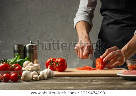 Chef with tomato sauce Stock photo © Francesco83
