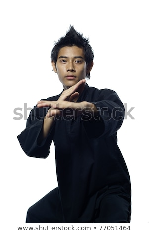 Malay silat martial arts defensive stance Stock photo © palangsi