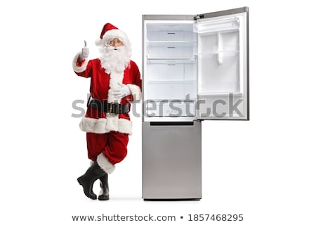 Full Length Portrait of Santa Claus standing with open hands out stock photo © HASLOO