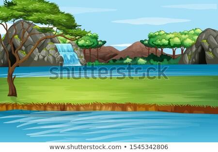 洞窟 川 急速 運動 水 風景 ストックフォト © Alvinge