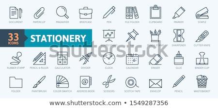 Penseel papier frame grappig witte Stockfoto © pkdinkar