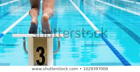 Başlatmak erkek hazır su spor Stok fotoğraf © Sportlibrary