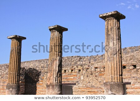 two storey building in pompeii stock photo © ca2hill