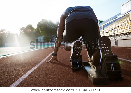 3d · man · hazır · yarış · 3d · render · adam · pozisyon - stok fotoğraf © spectral