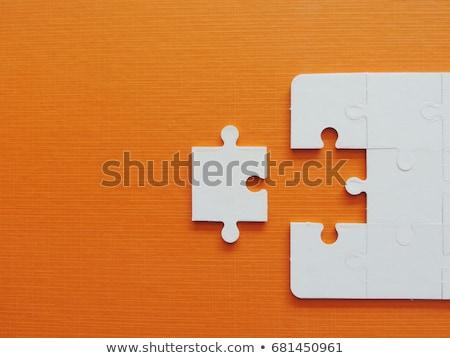 Finale pezzo puzzle blu successo Foto d'archivio © AlphaBaby