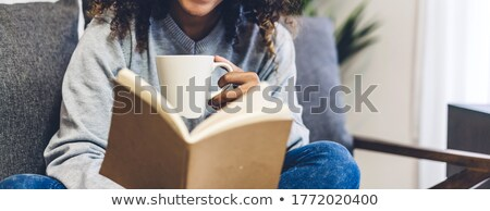 Cute Student Resting On Books Stock photo © williv