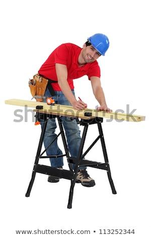 Man marking timber Stock photo © photography33