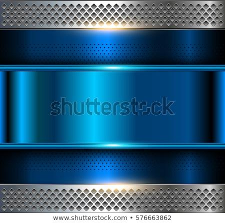 Background template, metallic texture, blue blank Stock photo © Ecelop