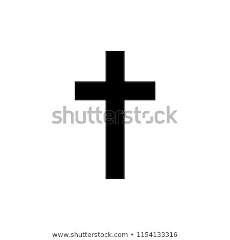 cross black Stock photo © mariephoto