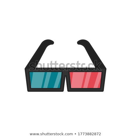 Estéreo gafas blanco papel fondo marco Foto stock © artjazz