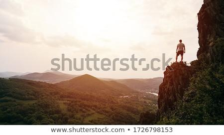 男 登山 氷 壁 自然 山 ストックフォト © ongap