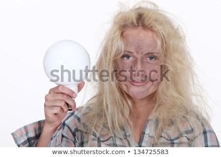 électricien · électriques · choc · visage · noir · foudre - photo stock © photography33