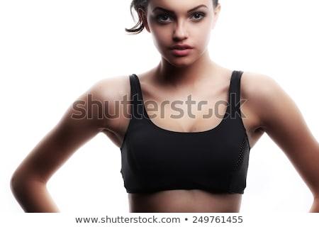 Sexy женщины истребитель красный боксерские перчатки Сток-фото © stryjek