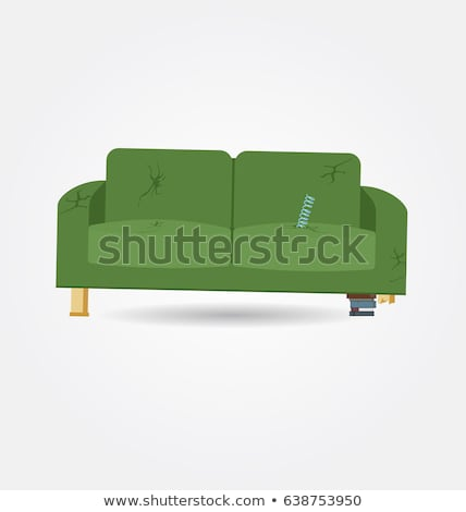 Innenraum · alten · sofa · zimmer · lampe · blume - stock foto ...