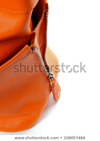 Stock photo: Zip of Women's Ginger Handbag