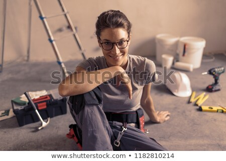 smiling handywoman stock photo © photography33