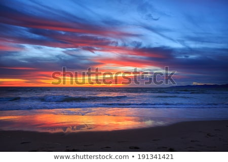 Ardiente amanecer mar sol paisaje fondo Foto stock © BSANI