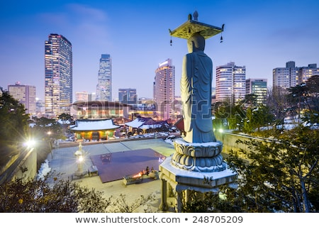 temple in seoul south korea Stock photo © travelphotography