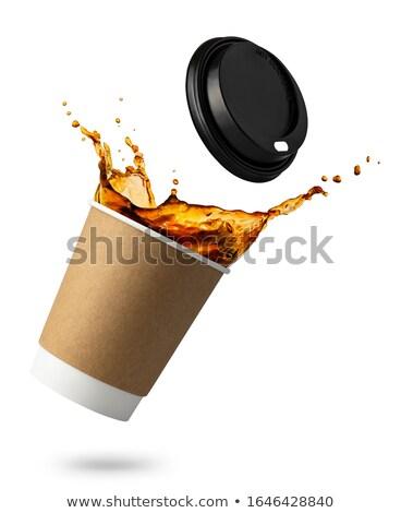 kahve · kâğıt · fincan · 3D · render - stok fotoğraf © garyfox45116