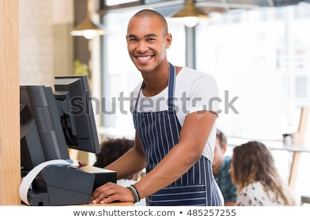 young black waiter Stock photo © photography33