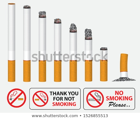 Realistico sigaretta illustrazione bianco design fuoco Foto d'archivio © dvarg