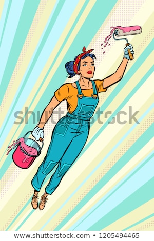 a female house painter Stock photo © photography33