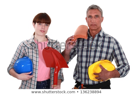 Roofer and his female helper Stock photo © photography33