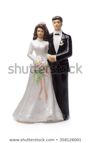 esküvői · torta · pár · virágok · fehér · egészség · életstílus - stock fotó © oneinamillion