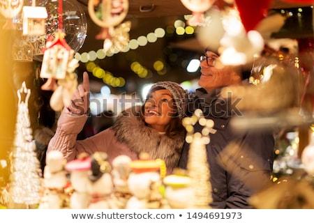 Natale mercato notte casa strada viaggio Foto d'archivio © val_th