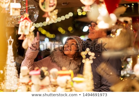 Рождества рынке ночь дома улице путешествия Сток-фото © val_th