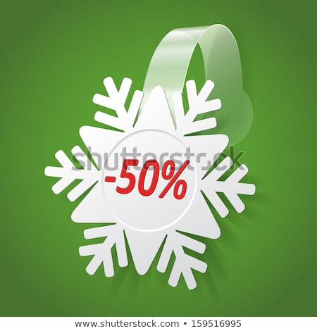snow flake sticker isolated on white background Stock photo © robertosch