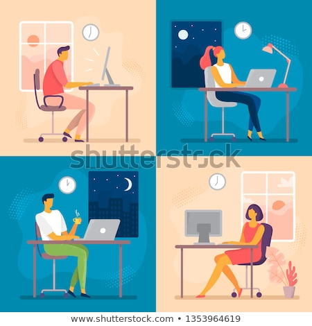 Late night office worker working overtime.  Stock photo © Reaktori
