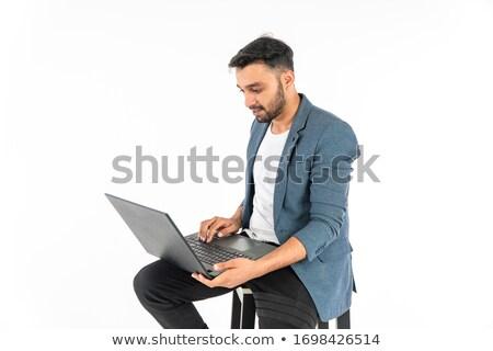 Portret zakenman lege handen witte financieren Stockfoto © wavebreak_media