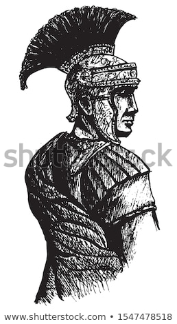 Roman Centurion Portrait Stock photo © AlienCat