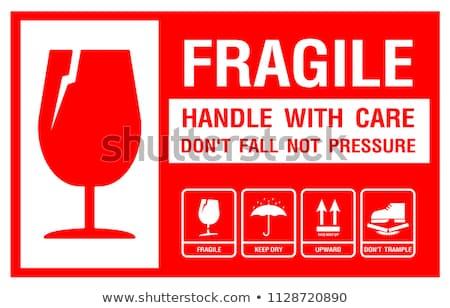 fragile sticker stock photo © mojojojofoto