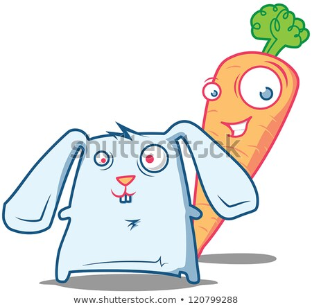 Mr.Carrot & silly Rabbit stock photo © Stanly