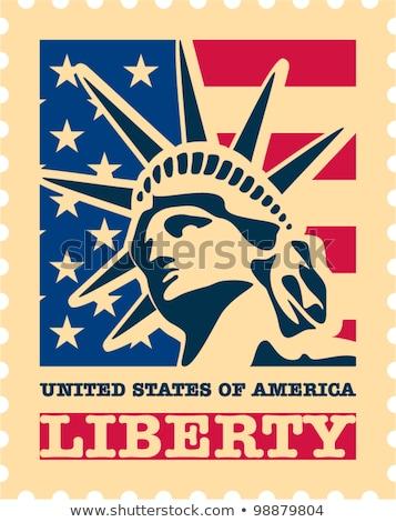 статуя свободы США почтовая марка Vintage Сток-фото © Snapshot