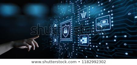 üzlet · biztonság · felirat · kék · internet · absztrakt - stock fotó © tashatuvango