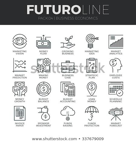Finance · argent · solide · icônes · web · vecteur - photo stock © butenkow