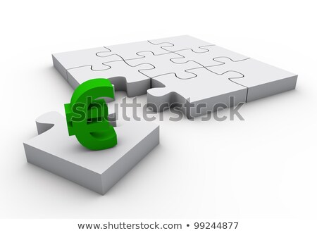 The missing piece is finance euro sign white jigsaw puzzle  Stock photo © dacasdo