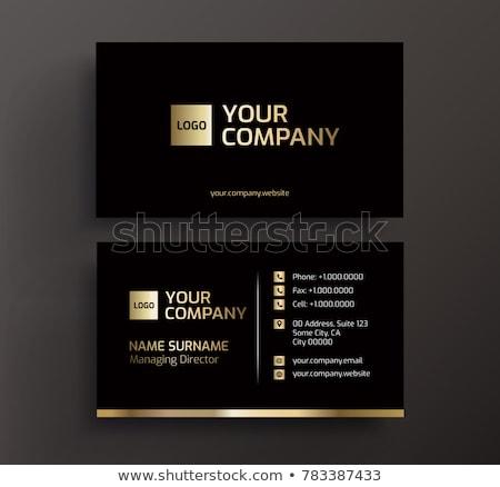 black and gold business cards stock photo © obradart