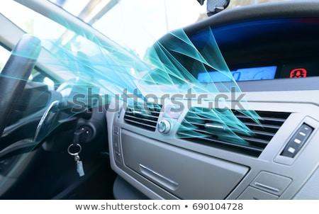 araba · içinde · iç · prestij · modern · iklim - stok fotoğraf © magann