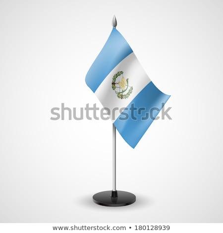 миниатюрный флаг Гватемала изолированный белый Сток-фото © bosphorus