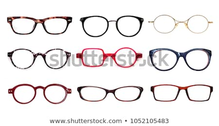 conjunto · vazio · coquetel · óculos · isolado · branco - foto stock © alinamd