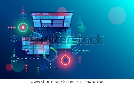 Stockfoto: Seo · internet · tekst · Blauw · selectieve · aandacht · 3d · render