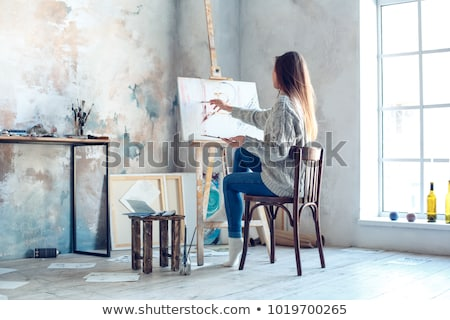 Painted woman Stock photo © pressmaster