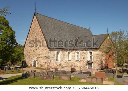 iglesia · Finlandia · invierno · pared · naturaleza · cruz - foto stock © tainasohlman